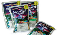 Freeze dried meals for food storage or backpacking